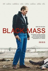 Black Mass movies review and DVD cover image.